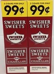 Swisher Sweets Cigarillos 2 For 99 Cents 60 Cigars